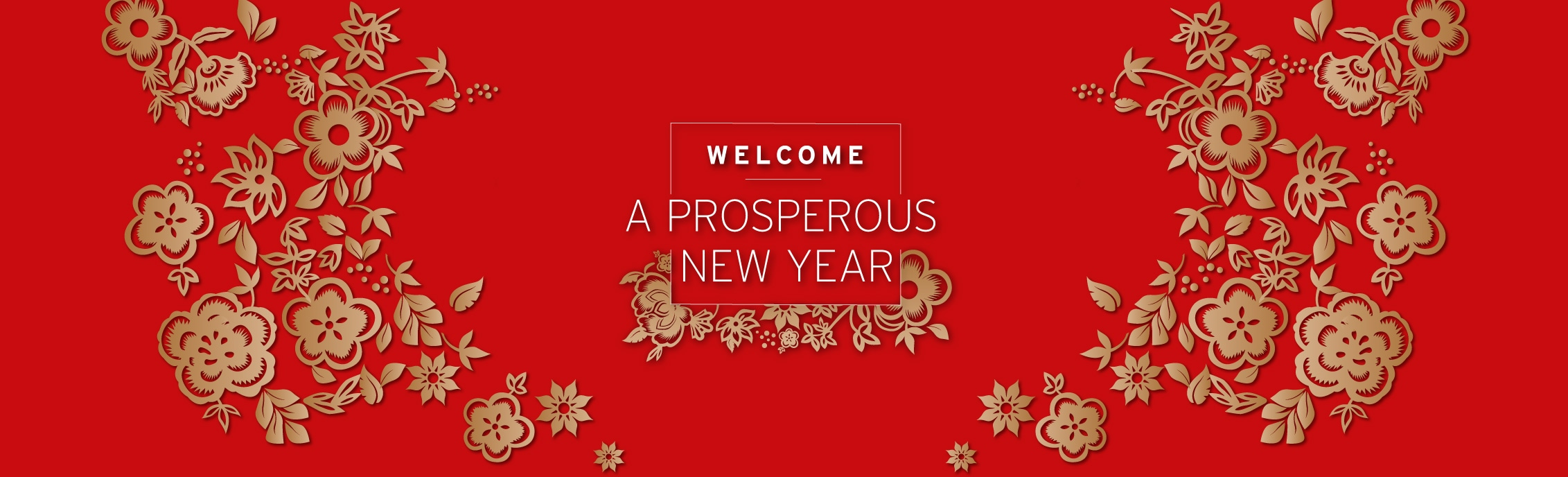 WELCOME A PROSPEROUS NEW YEAR