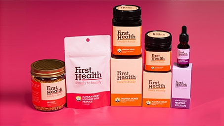 Enjoy 20% off on all First Health Manuka Honey products.