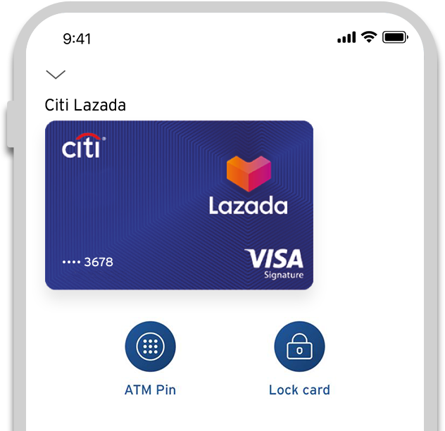 Image showing the lock and unlock feature of Citi Mobile® App
