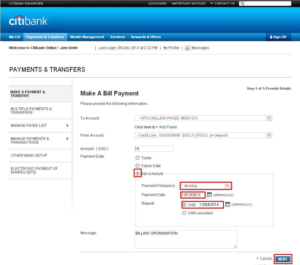 Online Banking Services Citibank Singapore Channel Bank Wiring Diagram Check The Details Of Your Payment Transfer And Click On Make This Button