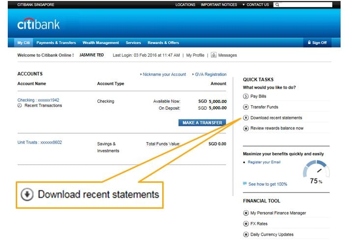 Citibank singapore forex account