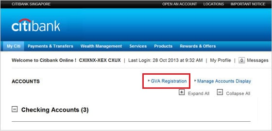 Citibank Account Online >> Single User ID | Citibank Singapore