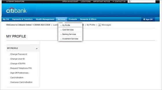 Citibank Secure Login >> Citibank Online   Internet Banking   Online Banking - Citibank Singapore